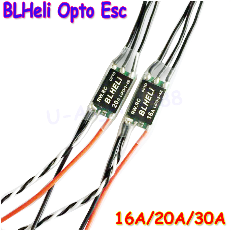 4pcs/lot 16A/20A/30A Mini BLHeli 14.2 OPTO mini 2-4s ESC For QAV250 voor diy multicopter quadcopter rc 250 alien drone Wholesale(China (Mainland))