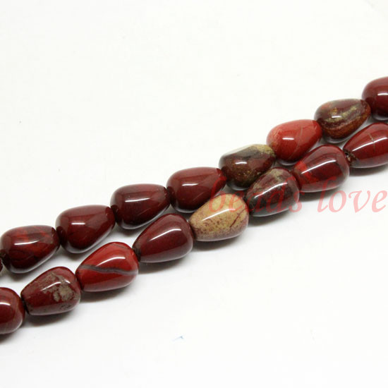 "1Strand 16""(28pcs)Natural stone "" Red River Jasper""Teardrop Loose Beads 10mm*14mm (w02993)Free Shipping(China (Mainland))"
