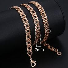Personalizado colar para mulheres 585 rosa ouro venitian curb caracol foxtail link correntes colar moda jóias 50cm 60cm cnn1(Hong Kong,China)