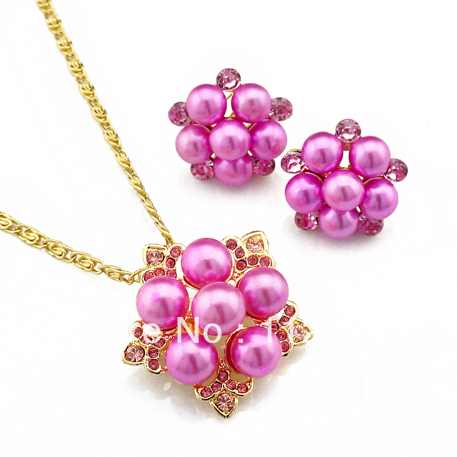 New Arrival Gold Plated Necklace and Earring wedding jewelry jewellery