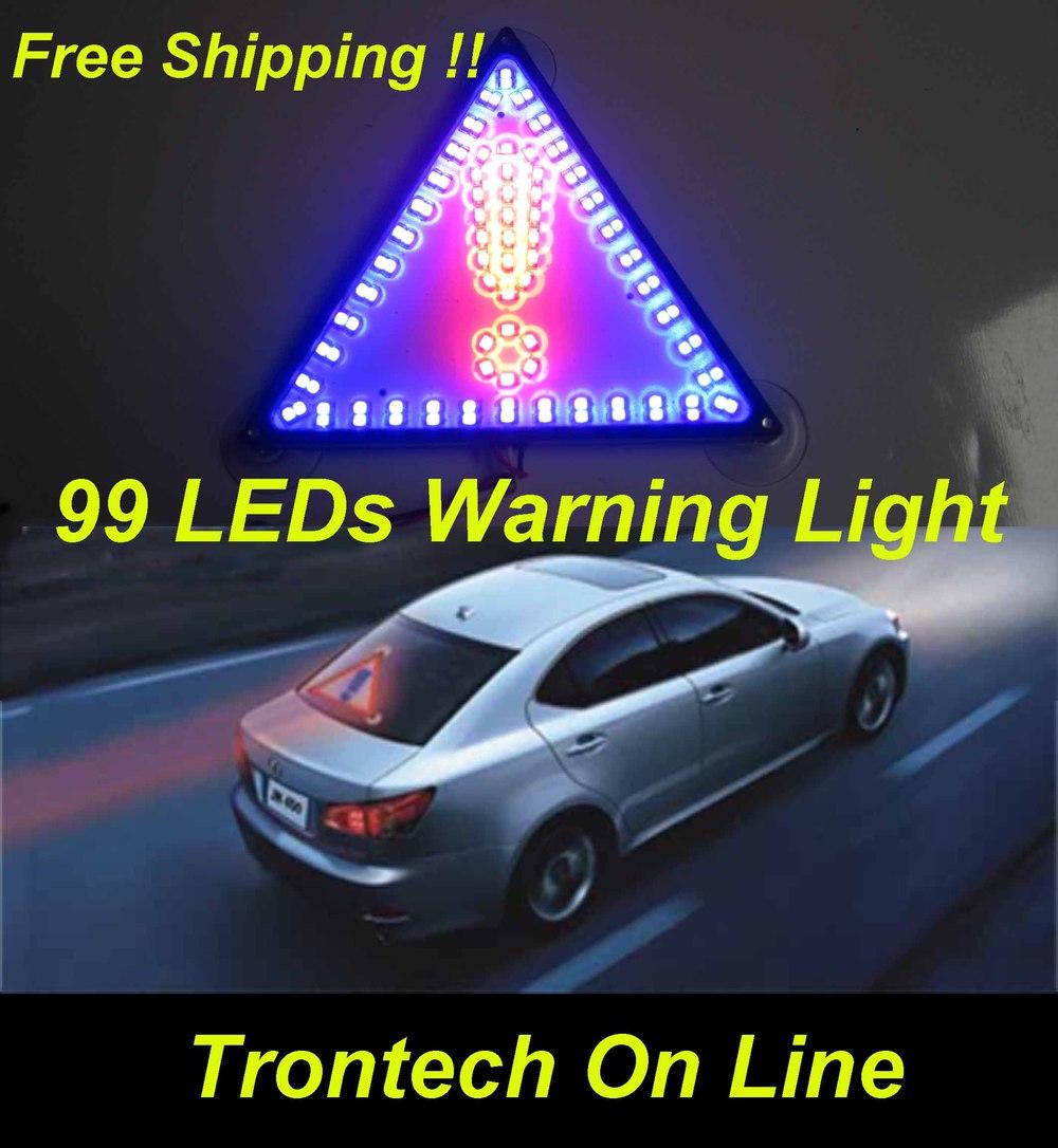 99 Led Triangle Car Truck Taxi Emergency Warning Light Led