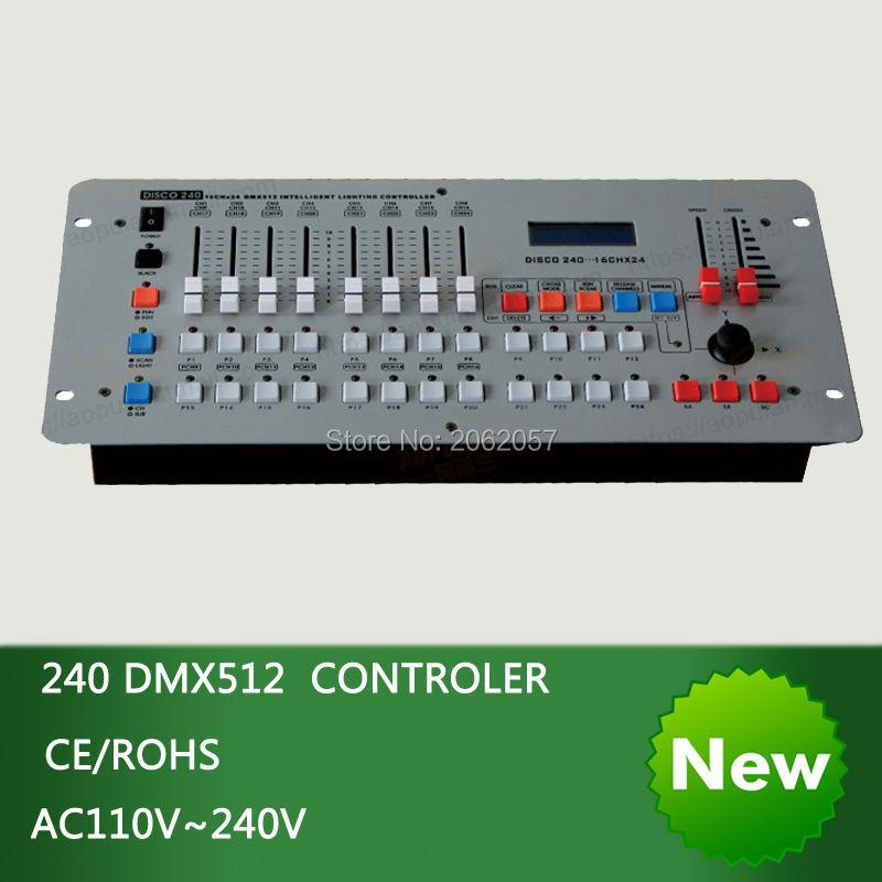 Hot sale International standard DMX 240 controller controller moving head beam light console DJ 512 dmx controller equipment(China (Mainland))