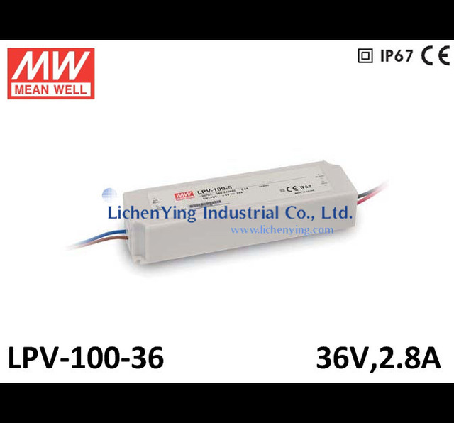 Mean Well 100W 0~ 2.8A 36V Single Output Switching Power Supply LED Driver LPV-100-36 C.V mode CE LED power supply circuit