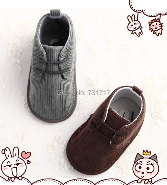 Стильный Вельвет случайный мальчик девочка обувь младенческой малыша детская кровать ...
