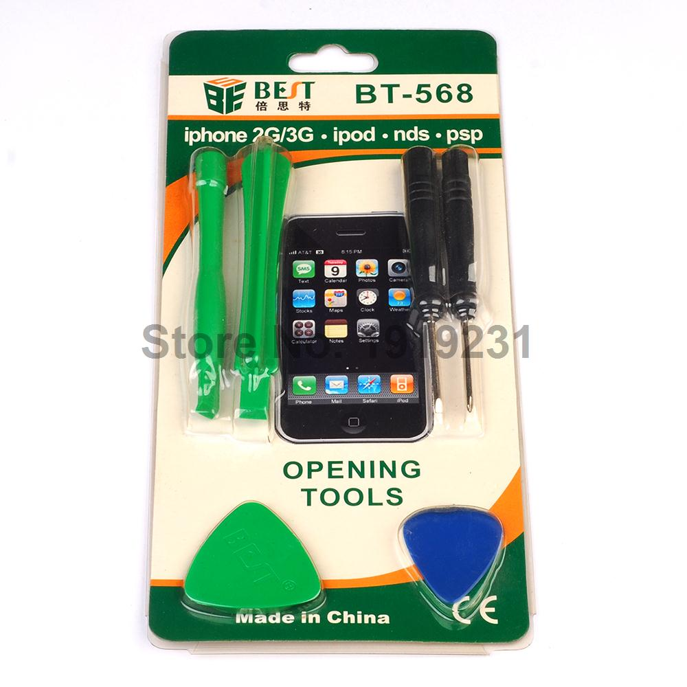 BT-568 Best Cell phone Opening Tools for iPhone 2G 3G 3GS ipod NDS PSP repair(China (Mainland))