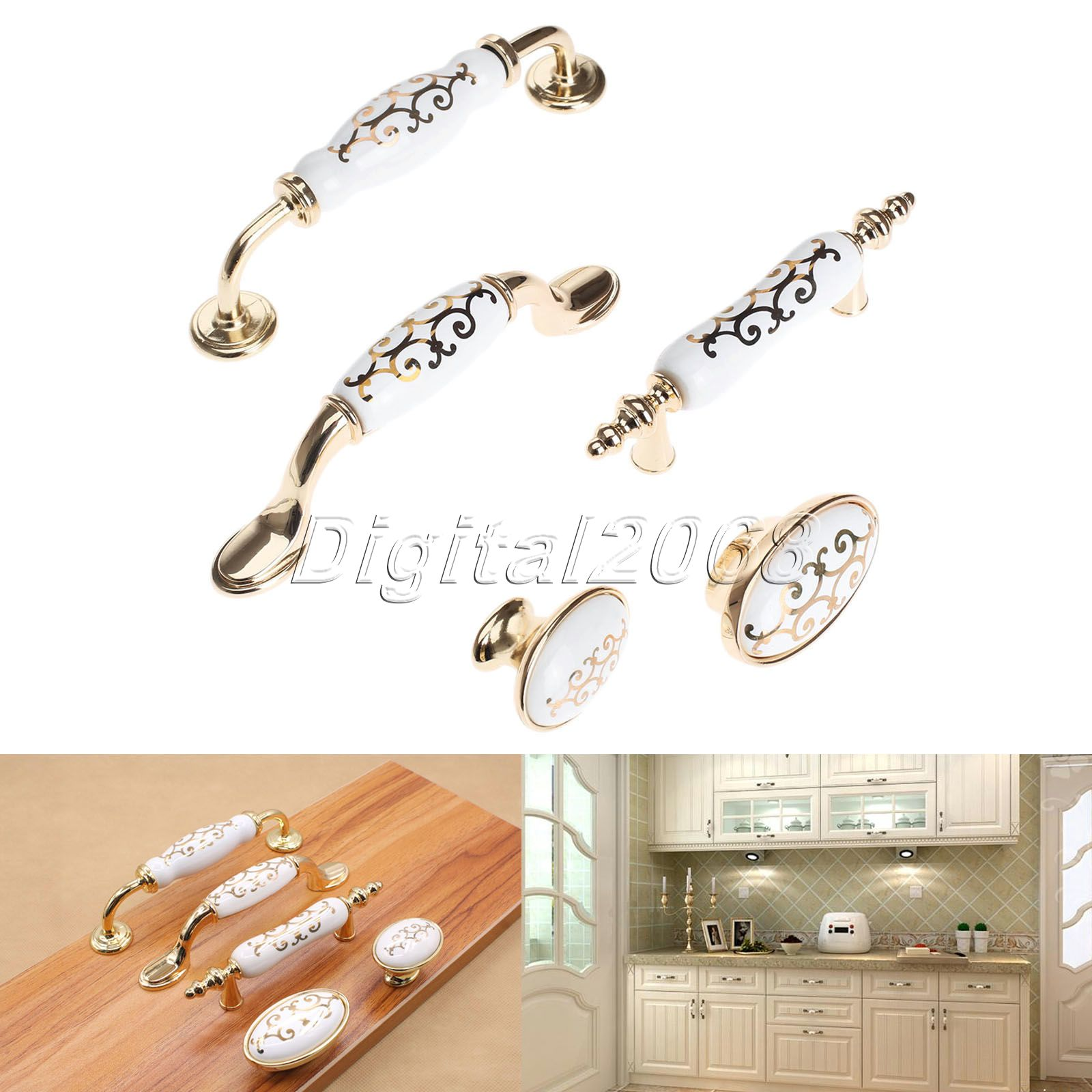 White Drawer Pull Knob Kitchen Cabinet Door Handles For Cabinet Wardrobe Cupboard Closet Drawer Furniture Hardware Accessories(China (Mainland))