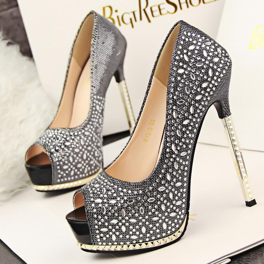 Sexy Open Toe High Heels