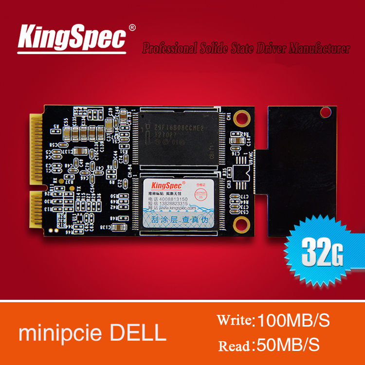 KingSpec PATA Mini PCIE IDE 32GB SSD Hard Drives Disk for Dell Mini9 Series Vostro A90 Computer Components free shipping(China (Mainland))