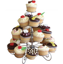 23 Cups European-style Multifunction Christmas Tree Shape Birthday Party Cupcake Stand Iron 4 Tier Cake Stand Holder(China (Mainland))