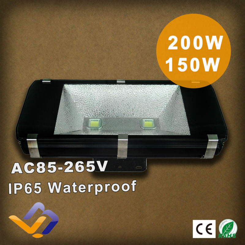 200W led flood light AC85-265V high power high lumens dimmable waterproof IP65 outdoor lighting tunnel/exhibition hall lamp<br><br>Aliexpress