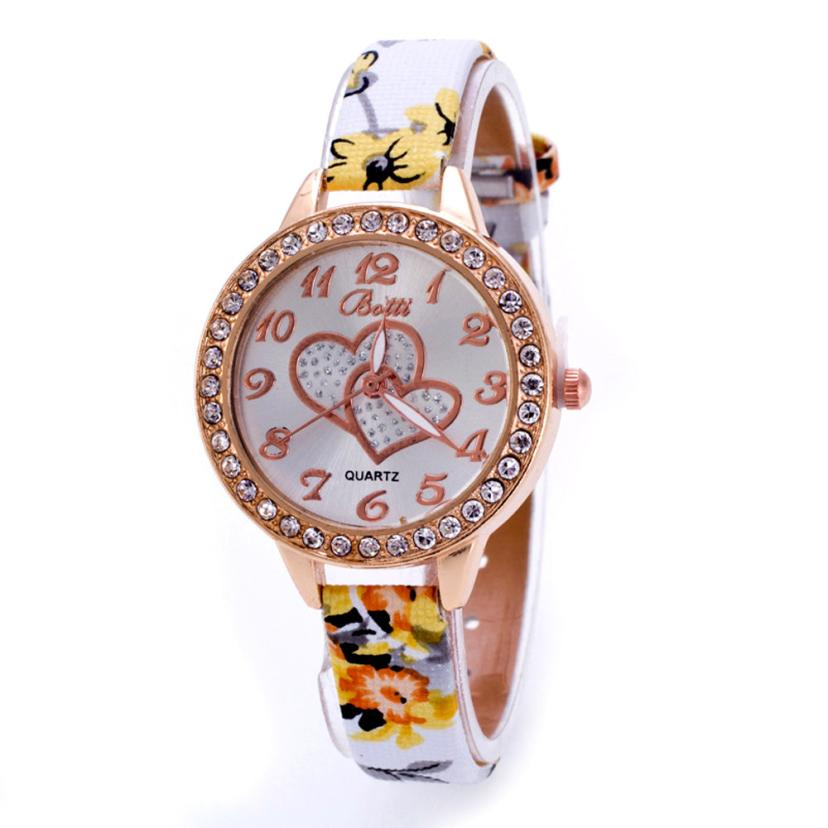 Hot Marketing 2016 Loving Heart Women Faux Leather Strap Band Analog Quartz Wrist Watch M04(China (Mainland))