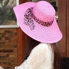 New trend Women Girls Hollow Brim Summer Beach Sun Hat Straw Floppy Bohemia Cap(China (Mainland))