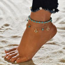 Новинка 2019, винтажные браслеты для женщин, многослойный браслет на ногу, богемные пляжные ювелирные изделия, цепи для лодыжки, подарок(China)