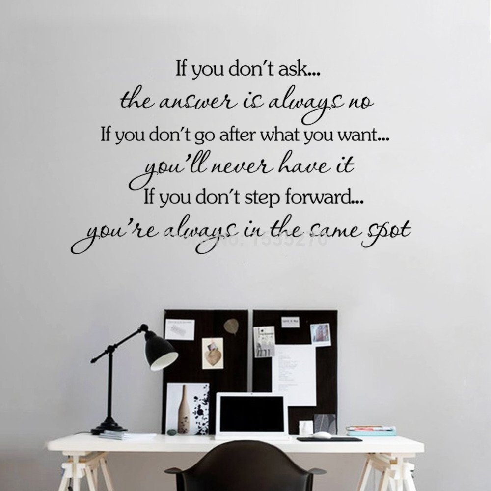Inspirational quotes wall stickers removable decal home for Home decorations quotes