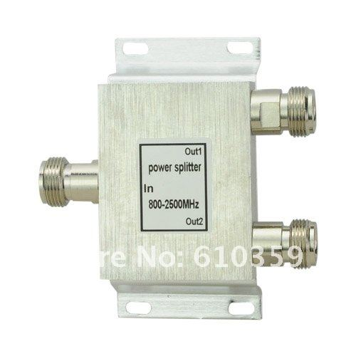 2 way power divider cell phone signal repeater 800-2500Mhz 2 Way Signal splitter(China (Mainland))