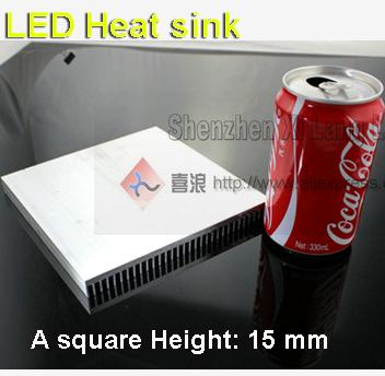 2pcs/Lot 156mm (L) *156mm ( W) *15mm (H) Led heat sink aluminum 20w Radiator aluminum heat sink(China (Mainland))
