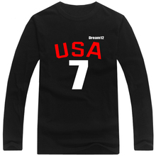Long Sleeve Men T-Shirt plus size 2016 USA Kyle 7 T Shirts Men T shirt Tops Cotton Tees,tx1698(China (Mainland))