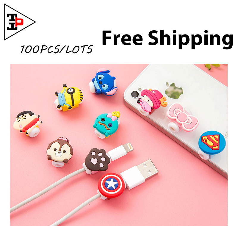 organizador de cables auriculares cable organiser wrap earphones headset stand protector cables TCH12N#(China (Mainland))