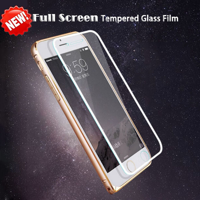 Full Screen Protector Protective Cover Film Silver 0.26mm Premium Tempered Glass pelicula de vidro iPhone 6 6S - Corcossi Science & Technology CO., LTD store