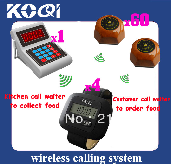 Cafe Wireless pager system Waiter pager system ; Guest call waiter to order Chef call waiter to pick up order DHL Free Shipping(China (Mainland))