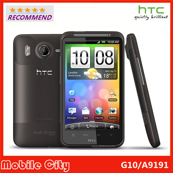 "G10 Original Refurbished Unlocked HTC Desire HD A9191 Mobile Phone 4.3""Touchscreen 8MP WIFI GPS 3G GSM Free Shipping(China (Mainland))"