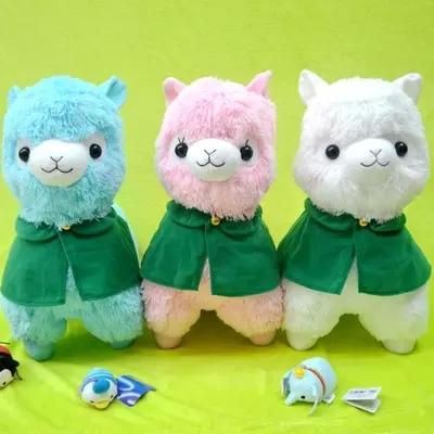 FREE SHIPPING 45cm Alpaca Plush Toy Japanese Alpacasso corps AMUSE Baby Plush Vicugna Pacos Arpakasso Stuffed Plush Doll Toy(China (Mainland))