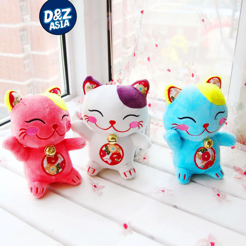 10pcs/lot Lucky Cat dolls plush toy doll cat wedding birthday girls gift new year gift<br><br>Aliexpress