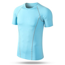 Buy 2016 Newest men short sleeve compression shirt workout fitness crossfit tights tshirt exercise wear homme camisetas hombre for $10.80 in AliExpress store