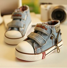 New 2016 Canvas Children Shoes Boys Sneakers Brand Kids Shoes for Girls Baby Jeans Denim Flat Boots H521-1