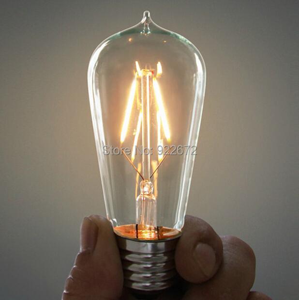 NEW E27 4W 6W 8W 10W Bombillas Led AC110-220V COB LED Bulb Edison Christmas Lights Home Lighting Ultra Bright LED Filament Bulbs(China (Mainland))