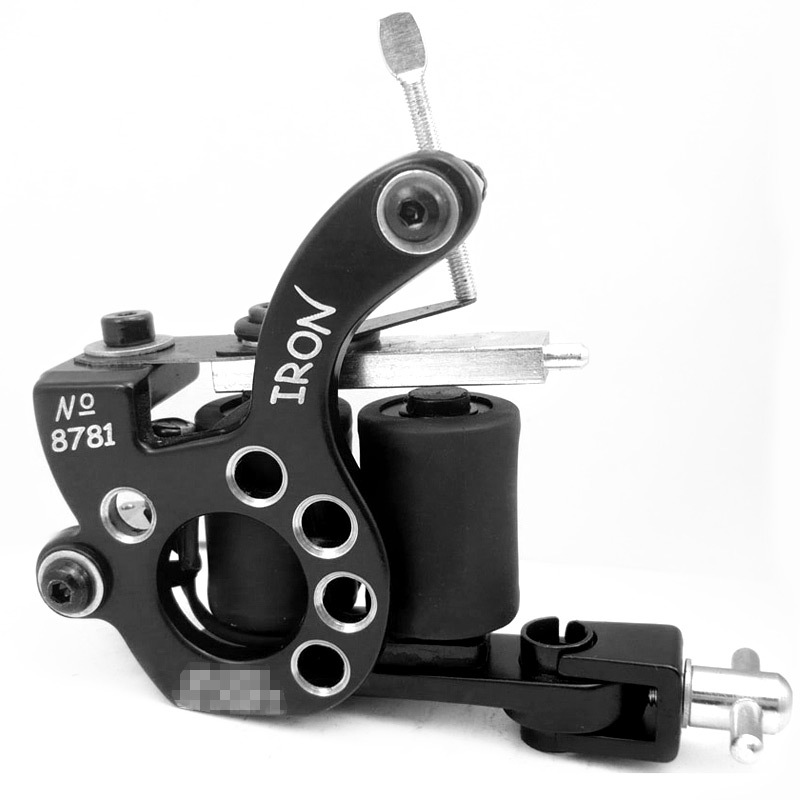 Professional casting iron tattoo machine 10 wraps coil for Tattoo gun prices