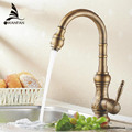Free shipping Antique bronze finish Kitchen faucets kitchen tap basin faucets single hand hot and cold