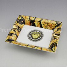 china Square Large Size Premium Porcelain Decal Luxury Cool Cigar Ashtray Ceramic - Accessories store