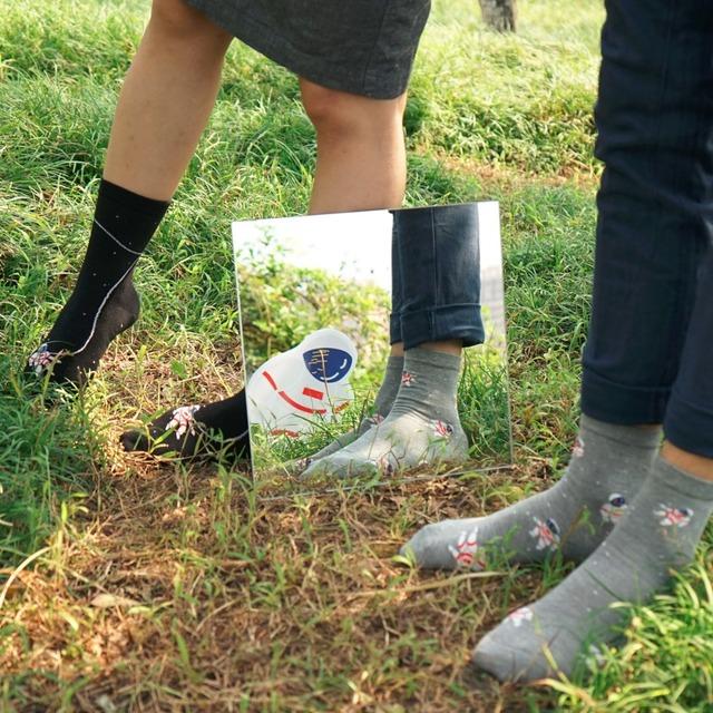 Корейский новинка нейтральный космонавтом рисунком трубке носки женщины мужчины забавный астронавт мультфильм носок симпатичные зима осень чистого хлопка носки