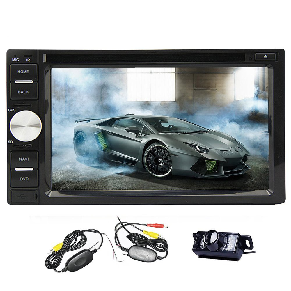 Win 8 UI wireless Rear Camera 6.2 2 DIN In Dash DVD Player stereo Touch screen USB/SD/AM/FM/RDS Radio/Bluetooth GPS Navigation<br><br>Aliexpress