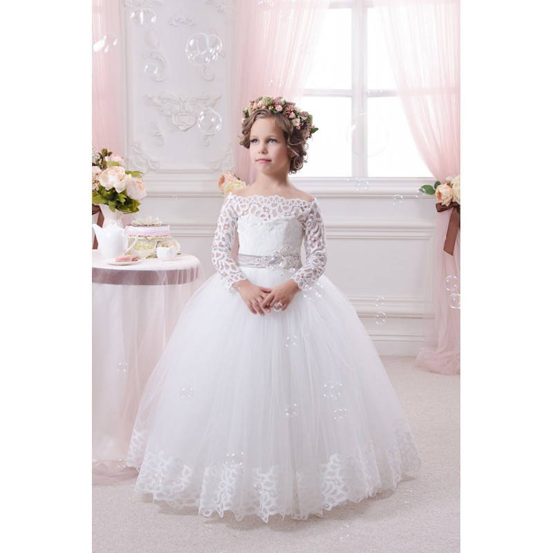 White Ball Gown Flower Girl Dresses 82