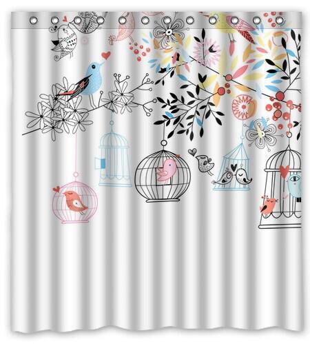 Oiseau rideau de douche promotion achetez des oiseau for Rideau de douche tissu impermeable