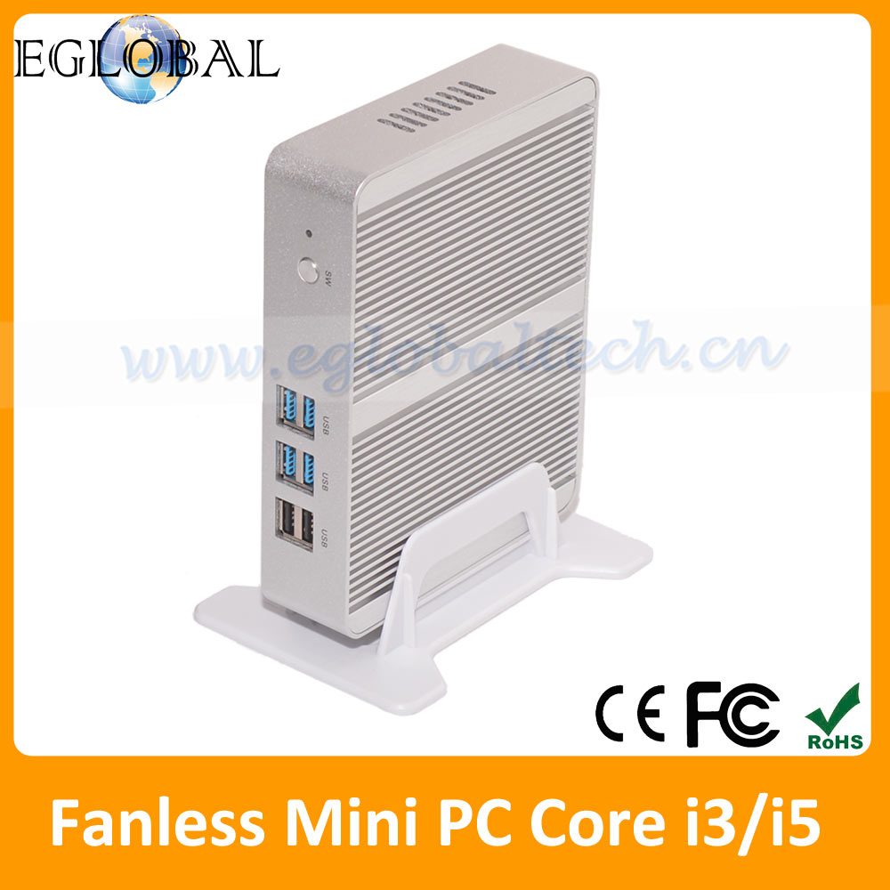 CE FCC ROHS Fanless Mini PC Computer Desktop Intel Nuc Core i5 Cheapest Thin Client PC Station Windows 10 VGA HDMI Kodi HTPC(China (Mainland))
