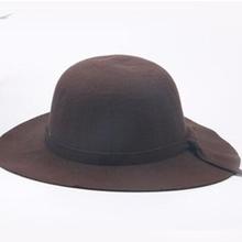 2016 HOT! summer Kids Floppy Hat chapeu feminino Soft Vintage Wide Brim Wool Felt Fedora Hats Floppy Cloche Child Boy Girl Hats(China (Mainland))