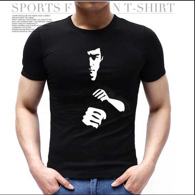 2016 Summer Brand mens t shirts dress tshirt homme Casual Bruce Lee Male sport suit T-shirt Slim Fit effort gym clothing 10(China (Mainland))