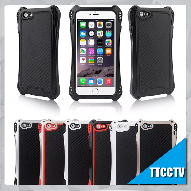 Metal Phone Case For iphone 6plus Case Cover Waterproof Shockproof With Gorilla Glass Aluminum Phone Housing