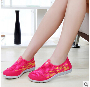 Casual shoes manufacturer provides straightly ms summer new net shoes casual and comfortable sneakers Breathable women's shoes(China (Mainland))