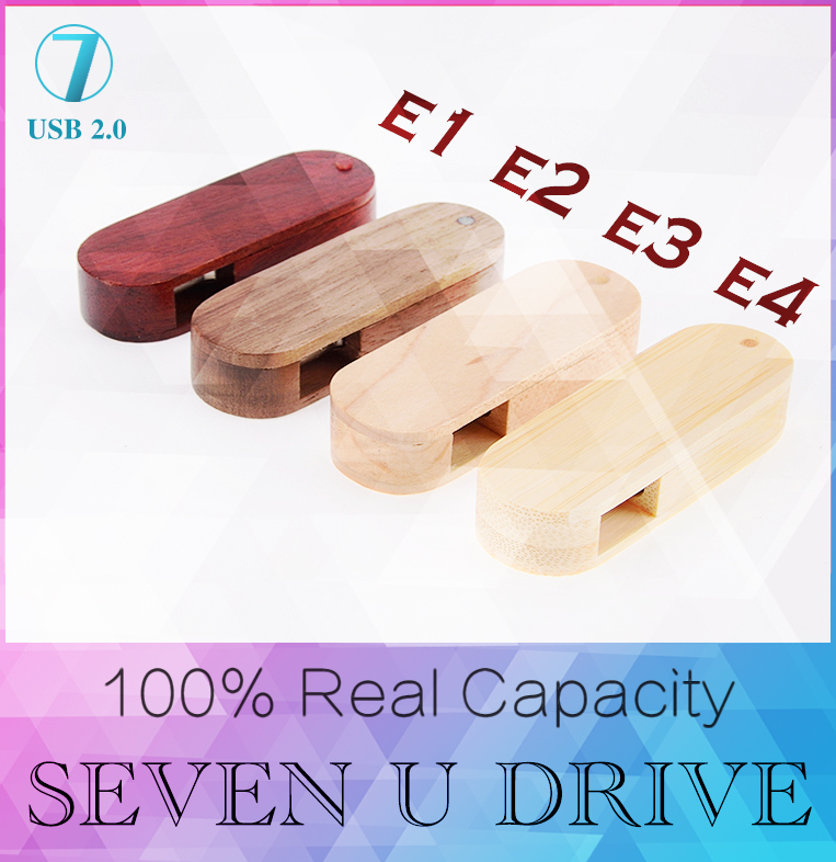 Hot walnut Maple bamboo mahogany USB Flash Drive 512GB Pen Drive Rotation Wooden Memory USB 2.0 stick pendrive 8GB 16GB 32GB(China (Mainland))