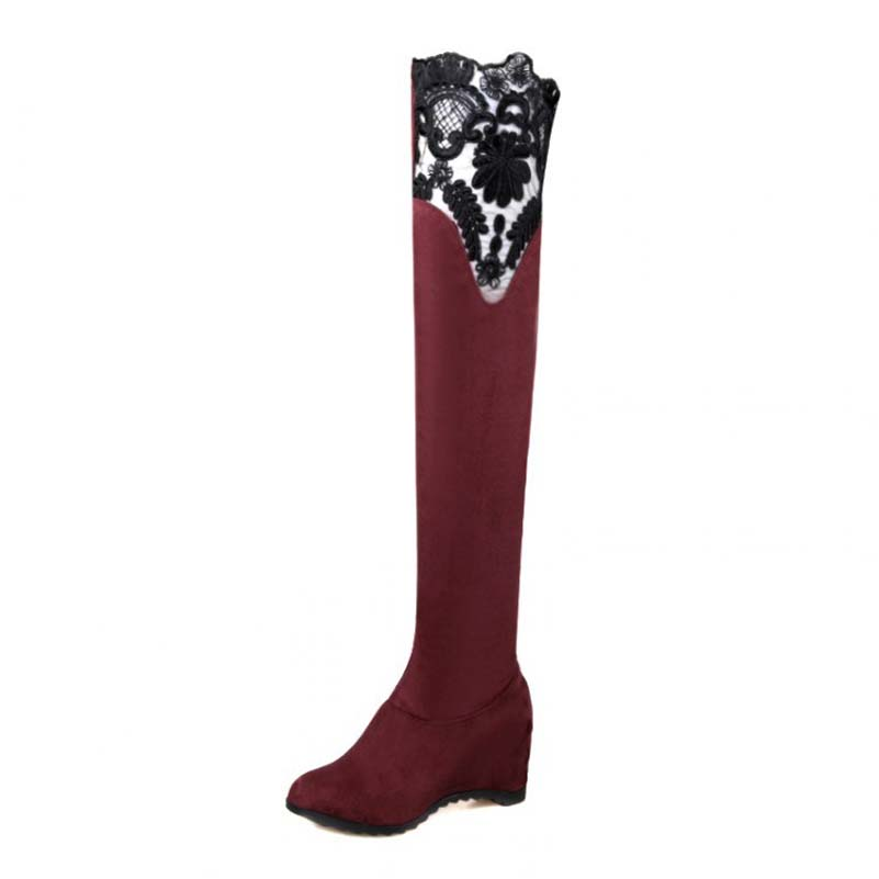 Over Knee-High Boots For Women New Increasing Heel High Boots Fashion Hot Sale Winter  Warm Boots High Quality Boots<br><br>Aliexpress