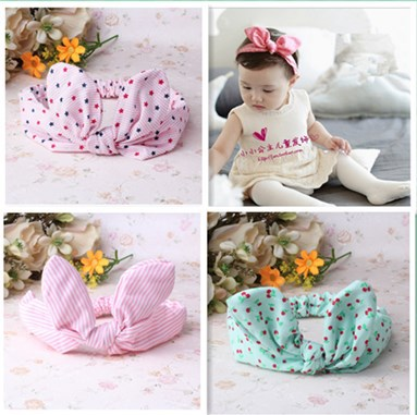 New Baby Hair Accessories Baby Hair Band Girls Big Bow Headwrap Lovely Bowknot Children Headband Cotton Bow Headband(China (Mainland))