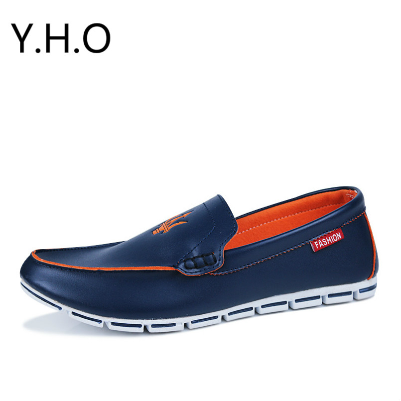 spring summer Breathable Loafers Shoe men's casual shoes Peas men lazy shoes Korean version of the British men's leather shoes