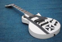High quality Custom ESP LTD Iron Cross SW James Hetfield Signature Electric Guitar EMG Snow White(China (Mainland))