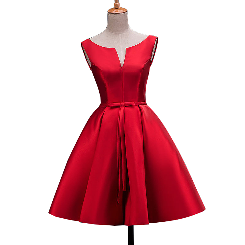 2015 new arrival short designer a line stain red cocktail for Wedding cocktail party dresses
