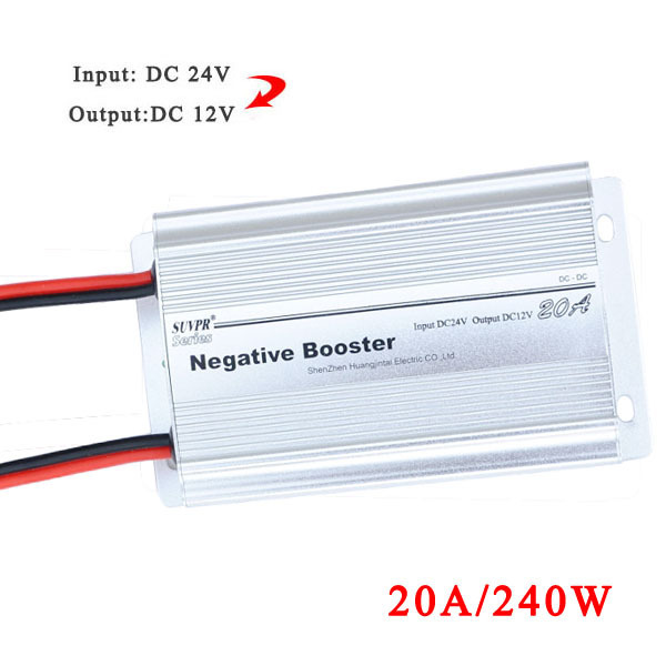 Real SUVPR 20A negative booster DC 24V to DC 12V car power converter adapter 240W inverter free shipping()