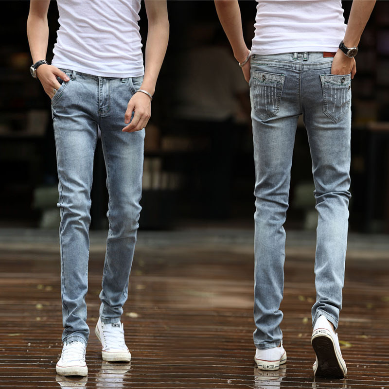 Mens Fashion Slim Jeans The Image Kid Has It